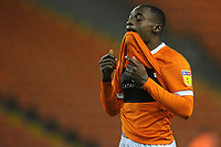 Blackpool's Marc Bola looks dejected at full time<br /> <br /> Photographer Kevin Barnes/CameraSport<br /> <br /> The EFL Sky Bet League One - Blackpool v Gillingham - Tuesday 11th February 2020 - Bloomfield Road - Blackpool<br /> <br /> World Copyright © 2020 CameraSport. All rights reserved. 43 Linden Ave. Countesthorpe. Leicester. England. LE8 5PG - Tel: +44 (0) 116 277 4147 - admin@camerasport.com - www.camerasport.com