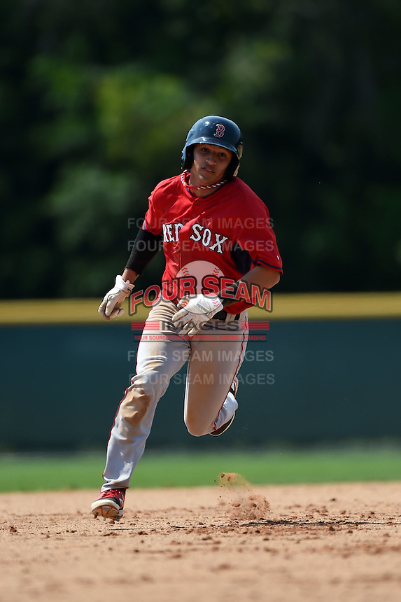 Boston Red Sox Jeremy Rivera (11) during a minor league spring training game against the Baltimore Orioles on March 20, 2015 at Buck O'Neil Complex in Sarasota, Florida.  (Mike Janes/Four Seam Images)