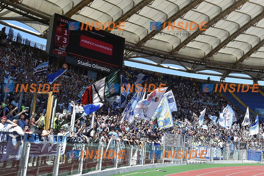 Tifosi Lazio e tabellone risultato Supporters <br /> Roma 30-04-2017 Stadio Olimpico Football Calcio Serie A 2016/2017 AS Roma - Lazio Foto Andrea Staccioli / Insidefoto