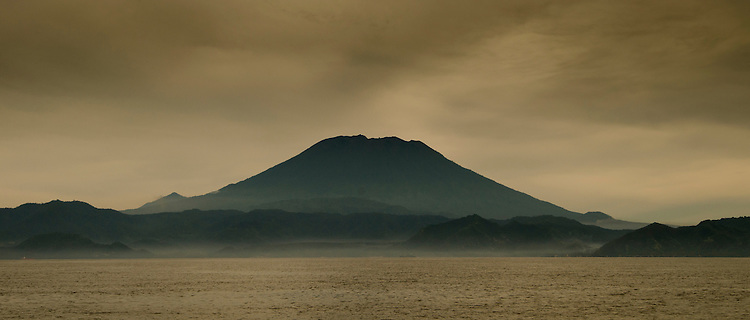 Volcano in Komodo National Park