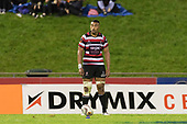 Steelers Captain Jimmy Tupou lines up the conversion kick  of Baden Kerr's try. Mitre 10 Cup game between Counties Manukau Steelers and Tasman Mako's, played at ECOLight Stadium Pukekohe on Saturday October 14th 2017. Counties Manukau won the game 52 - 30 after trailing 22 - 19 at halftime. <br /> Photo by Richard Spranger.