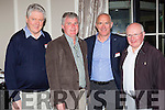 Gearoid O'Sullivan, Noel Lucey, Denis Spillane and Fr Gearoid Walsh catching up at the 1975 St Brendans college, Killarney class reunion in the Malton Hotel on Saturday night