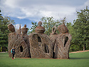 Spring in Sarah P. Duke Gardens.<br />  &quot;The Big Easy,&quot; Patrick Dougherty's new sculpture on the South Lawn in the Historic Gardens. <br /> Photo by Bill Snead/Duke Photography #dukephotoaday, #dukefacilities