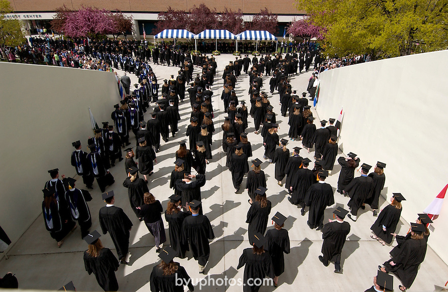 April Commencement and Graduation Ceremonies...April 21, 2005. .Photo by Steve Walters/BYU.