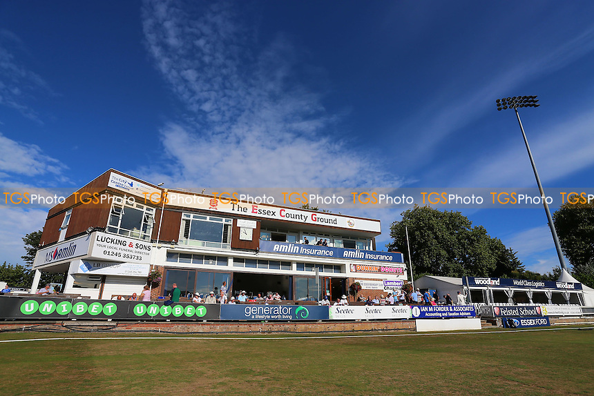 Blues skies over the Pavilion during Essex CCC vs Glamorgan CCC, Specsavers County Championship Division 2 Cricket at the Essex County Ground on 12th September 2016