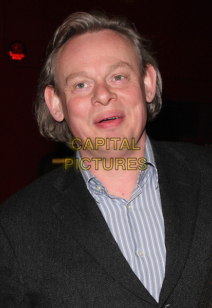 "MARTIN CLUNES .Press Night for ""Entertaining Mr Sloane"" at the Trafalgar Studios, London, England,  January 30th 2009.portrait headshot blue striped shirt .CAP/ROS.©Steve Ross/Capital Pictures"