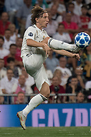 Uefa Champions League football match Real Madrid vs AS Roma at the Santiago Bernabeu stadium in Madrid on September 19, 2018.<br /> <br /> Luca Modric