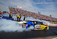 Oct 17, 2015; Ennis, TX, USA; NHRA pro stock driver Allen Johnson during qualifying for the Fall Nationals at the Texas Motorplex. Mandatory Credit: Mark J. Rebilas-USA TODAY Sports