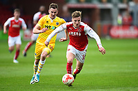 Fleetwood Town's George Glendon surges away from Millwall&rsquo;s Jed Wallace<br /> <br /> Photographer Richard Martin-Roberts/CameraSport<br /> <br /> The EFL Sky Bet League One - Fleetwood Town v Millwall - Monday 17th April 2017 - Highbury Stadium - Fleetwood<br /> <br /> World Copyright &copy; 2017 CameraSport. All rights reserved. 43 Linden Ave. Countesthorpe. Leicester. England. LE8 5PG - Tel: +44 (0) 116 277 4147 - admin@camerasport.com - www.camerasport.com