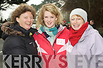 Mary Coleman, Rachel Coleman Horgan and Ann Culloty enjoying the Beaufort 10k fun run in Beaufort on New Years Day.
