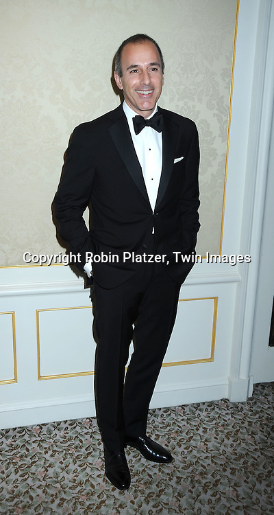 Matt Lauer attending The Museum of the Moving Image Honors Katie Couric and Phil Kent on May 5, 2010 at The St Regis Hotel in New York City.