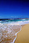 Foaming sea on deserted beach. Calleta del bajho, Corrallejo, Fuerteventura, Canary Islands, Spain