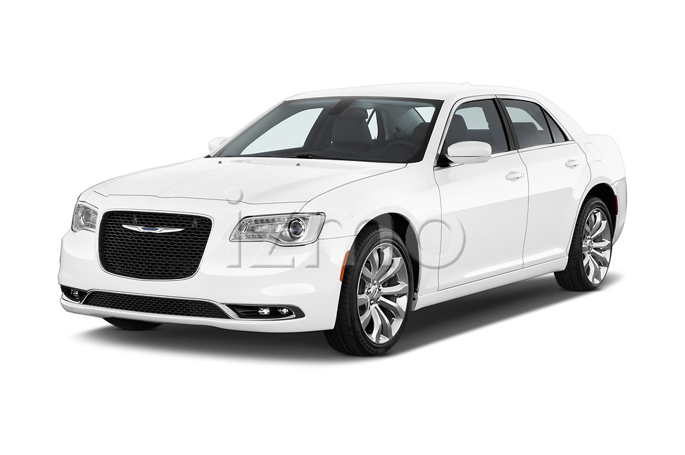 2018 Chrysler 300 Limited 4 Door Sedan angular front stock photos of front three quarter view