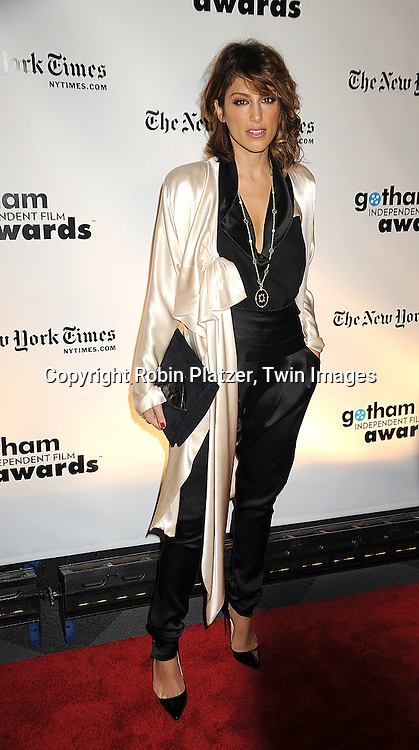 actress Jennifer Esposito..posing for photographers at the 18th Annual Gotham Independent Film Awards at Cipriani Wall Street on December 2, 2008 in New York. ....Robin Platzer, Twin Images