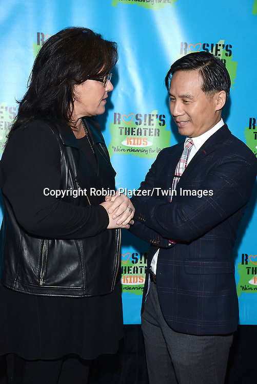 Rosie O'Donnell and BD Wong attends Rosie O'Donnell's 11th Annual Rosie's Theater Kids Gala on September 22, 2014 at The New York Marriott Marquis in New York City. <br /> <br /> photo by Robin Platzer/Twin Images<br />  <br /> phone number 212-935-0770