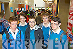 Students from Mercy Mounthawk Secondary pictured at the IT Tralee Open Day on Friday, from left: Adam Rael, Colm Furlong, William Grattage, Billy Downes and Conor Higgins.