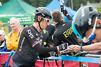 Picture by Allan McKenzie/SWpix.com - 04/09/2017 - Cycling - OVO Energy Tour of Britain - Stage 2 Kielder Water to Blyth - Geraint Thomas signs autographs.