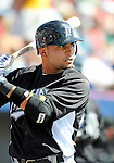 2 March 2011: Florida Marlins infielder Omar Infante awaits the start of play prior to a Spring Training game against the Washington Nationals at Space Coast Stadium in Viera, Florida. The Nationals defeated the Marlins 8-4 in Grapefruit League action. Mandatory Credit: Ed Wolfstein Photo