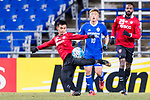 Muangthong Midfielder Sanukran Thinjom (L) in action during the AFC Champions League 2017 Group E match between  Ulsan Hyundai FC (KOR) vs Muangthong United (THA) at the Ulsan Munsu Football Stadium on 14 March 2017 in Ulsan, South Korea. Photo by Chung Yan Man / Power Sport Images