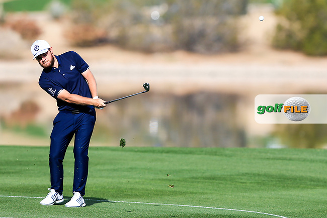 Tyrrell Hatton (ENG) on the 15th fairway during the 1st round of the Waste Management Phoenix Open, TPC Scottsdale, Scottsdale, Arisona, USA. 31/01/2019.<br /> Picture Fran Caffrey / Golffile.ie<br /> <br /> All photo usage must carry mandatory copyright credit (&copy; Golffile | Fran Caffrey)