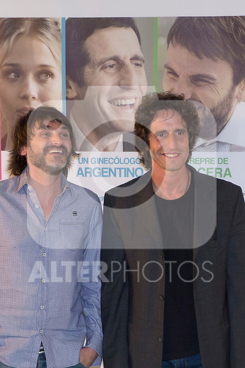 "28.05.2012. Presentation at the ""Telefonica Flagship Store"" in Madrid of the movie ""In Out of the Game"" with the presence of director David Marques and Fernando K protagonists, Diego Peretti, Patricia Montero and Carmen Ruiz. In the image Fernando Tejero and Diego Peretti (Alterphotos/Marta Gonzalez)"