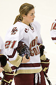 Andrea Green (BC - 21) - The visiting St. Lawrence University Saints defeated the Boston College Eagles 4-0 on Friday, January 15, 2010, at Conte Forum in Chestnut Hill, Massachusetts.