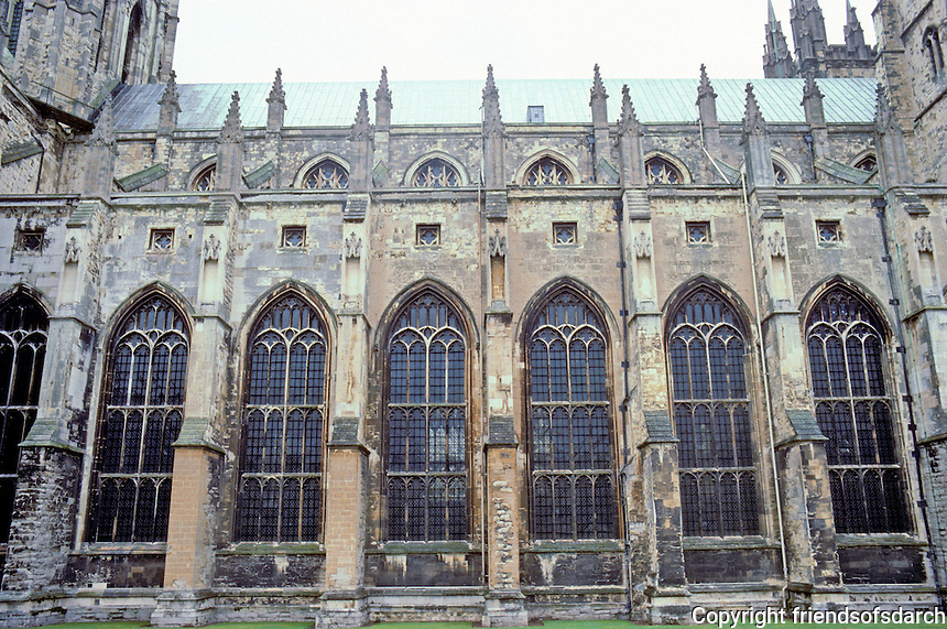 Canterbury: Canterbury Cathedral--Nave, elevation.