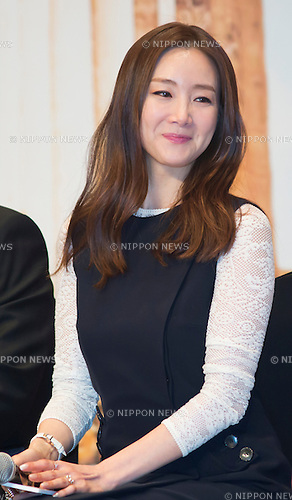 "Choi Ji-Woo, Mar 24, 2015 : South Korean actress Choi Ji-woo poses during a press conference for the tvN's reality show, ""Grandpas over Flowers in Greece"" in Seoul, South Korea. (Photo by Lee Jae-Won/AFLO) (SOUTH KOREA)"