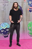 "Jason Momoa<br /> arrives for the ""Suicide Squad"" premiere at the Odeon Leicester Square, London.<br /> <br /> <br /> ©Ash Knotek  D3142  03/08/2016"
