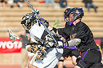 San Diego, CA 05/25/13 - Chris Summers (Westview #33) and Henry Gardener (Carlsbad #7) in action during the 2013 Boys Lacrosse San Diego CIF DIvision 1 Championship game.  Westview defeated Carlsbad 8-3.
