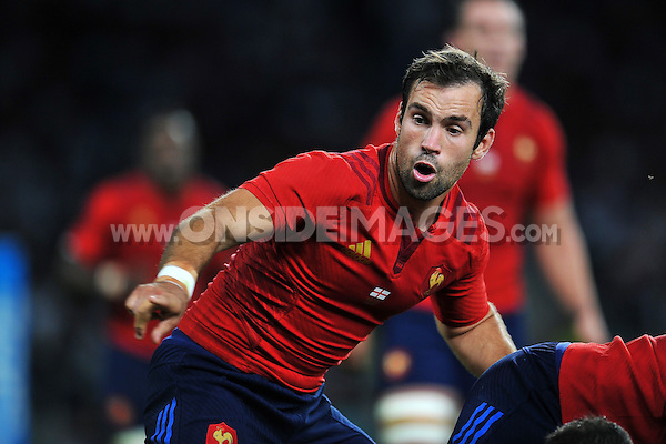 Morgan Parra of France. QBE International match between England and France on August 15, 2015 at Twickenham Stadium in London, England. Photo by: Patrick Khachfe / Onside Images