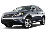 Low aggressive front three quarter view of a 2013 Lexus RX 450H