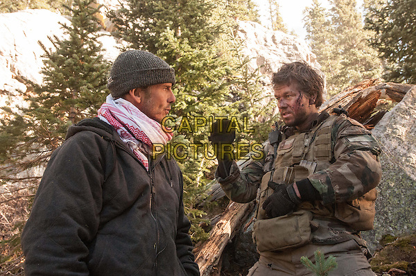 Peter Berg (Director), Mark Wahlberg<br /> on the set of Lone Survivor (2013) <br /> (Du Sang et des Larmes)<br /> *Filmstill - Editorial Use Only*<br /> CAP/NFS<br /> Image supplied by Capital Pictures
