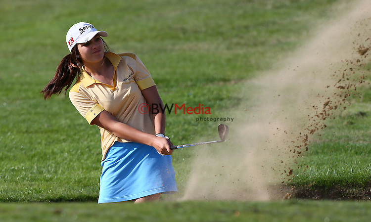 Brooke Hamilton during day three, Round Three of the New Zealand Amatuer Championship, Nelson Golf Course, Nelson, New Zealand. Friday 25 April 2014 Photo: Simon Watts/www.bwmedia.co.nz <br /> All images &copy; NZ Golf and BWMedia.co.nz
