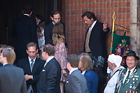 Mariage du Prince Ernst junior de Hanovre et de Ekaterina Malysheva &agrave; l'&eacute;glise Markkirche &agrave; Hanovre.<br /> Allemagne, Hanovre, 8 juillet 2017.<br /> Wedding of Prince Ernst Junior of Hanover and Ekaterina Malysheva at the Markkirche church in Hanover.<br /> Germany, Hanover, 8 july 2017<br /> Pic :  Prince Andrea Casiraghi &amp; Alexandra of Hanover