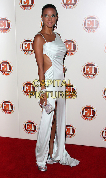 EVA LA RUE .Entertainment Tonight Emmy Party Celebrates The 62nd Annual Primetime Emmy Awards at Vibiana, Los Angeles, California, USA..August 29th, 2010.full length maxi dress slit split larue white silver side clutch bag .CAP/ADM/CH.©Charles Harris/AdMedia/Capital Pictures