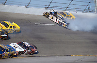 Dale Earnhardt Crash Frame 1.NASCAR Winston Cup Daytona 500 18 Feb.2001 Daytona International Speedway, Daytona Beach,Florida,USA .© F. Peirce Williams .photography 2001...F.Peirce Williams Photography.P.Box 455 Eaton, OH 45320.317.358.7326  fpwp@mac.com.