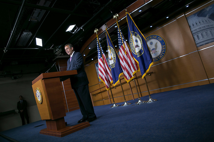 UNITED STATES - JULY 29: House Speaker John Boehner, R-Ohio, participates in a news conference on Capitol Hill in Washington, July 29, 2015. (Photo By Al Drago/CQ Roll Call)