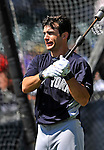 8 March 2011: New York Yankees' outfielder Austin Krum awaits his turn in the batting cage prior to a Spring Training game against the Atlanta Braves at Champion Park in Orlando, Florida. The Yankees edged out the Braves 5-4 in Grapefruit League action. Mandatory Credit: Ed Wolfstein Photo
