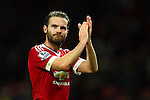 Juan Mata of Manchester United applauds the fans - Manchester United vs Norwich City - Barclays Premier League - Old Trafford - Manchester - 19/12/2015 Pic Philip Oldham/SportImage