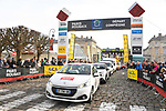 The publicity caravan ahead of the race starts from Compiegne before the 116th edition of Paris-Roubaix 2018. 8th April 2018.<br /> Picture: ASO/Bruno Bade | Cyclefile<br /> <br /> <br /> All photos usage must carry mandatory copyright credit (&copy; Cyclefile | ASO/Bruno Bade)