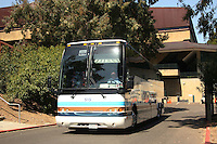 3 April 2008: The team departs for the Final Four from Maples Pavilion in Stanford, CA.
