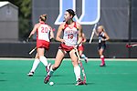 02 October 2016: Boston's Kiley Gallagher. The Duke University Blue Devils hosted the Boston University Terriers at Jack Katz Stadium in Durham, North Carolina in a 2016 NCAA Division I Field Hockey match. Duke won the game 2-1.