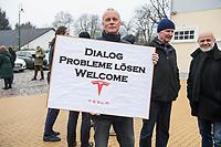 2020/01/25 Brandenburg   Grünheide   Kundgebung für Tesla-Gigafactory