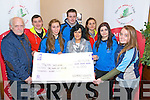 Killarney No name Club members Jason Wright, Paulina Filip, Liam Morris, Dominika Gwizdzinska, Rachel Clifford and Chloe Enright presented a cheque for €4,000 to Pieta House represented by Dennis and Marie O'Carroll in the Streat Cafe, Scott's Street, Killarney last Friday night.