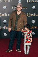 "Josh Gad and his daughter at Premiere of Disney's ""Cinderella"" at El Capitan in Hollywood, CA (Photo by Tiffany Chien/Guest Of A Guest)"