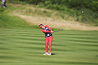 Annie Park of Team USA on the 8th fairway during Day 1 Foursomes at the Solheim Cup 2019, Gleneagles Golf CLub, Auchterarder, Perthshire, Scotland. 13/09/2019.<br /> Picture Thos Caffrey / Golffile.ie<br /> <br /> All photo usage must carry mandatory copyright credit (© Golffile | Thos Caffrey)