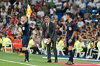 Galatasaray´s coach Hamza Hamzaoglu during Santiago Bernabeu Trophy match at Santiago Bernabeu stadium in Madrid, Spain. August 18, 2015. (ALTERPHOTOS/Victor Blanco)