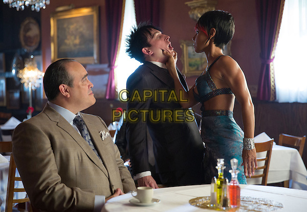David Zayas, Robin Lord Taylor, Jada Pinkett Smith<br /> in Gotham (2014&ndash; ) <br /> (Season 1)<br /> *Filmstill - Editorial Use Only*<br /> CAP/FB<br /> Image supplied by Capital Pictures