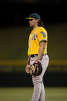 AZL Athletics first baseman Gio Dingcong (26) during an Arizona League game against the AZL Cubs 1 at Sloan Park on June 28, 2018 in Mesa, Arizona. The AZL Athletics defeated the AZL Cubs 1 5-4. (Zachary Lucy/Four Seam Images)